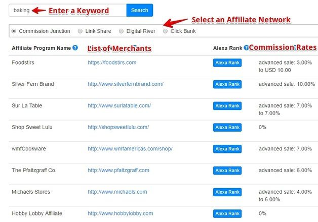 Jaaxy Affiliate Search