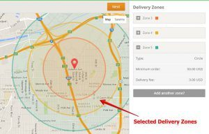 Setting Delivery Zones