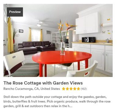 A Property Listing on AirBnb