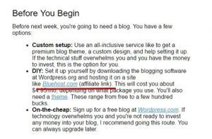 Affiliate Link in Email