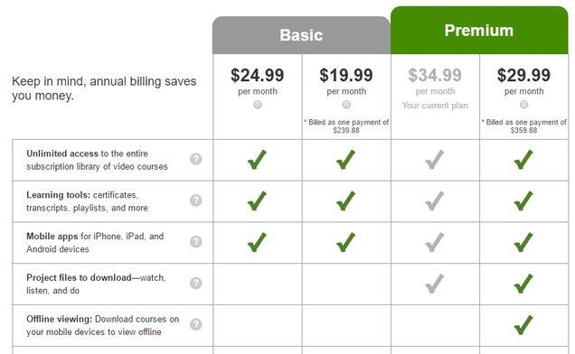 Lynda's Pricing Plan