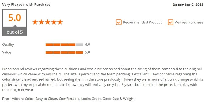Positive Customer Reviews
