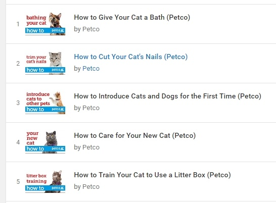 PetCo YouTube Videos