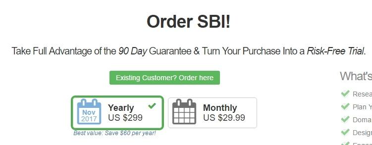 SBI Pricing Plan