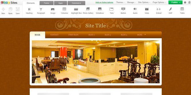 Zoho Website Editor
