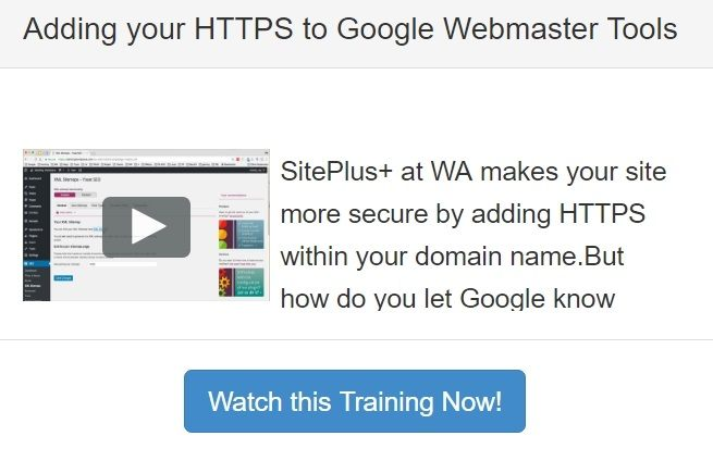 Live Training - Adding HTTPs to Google Search Console
