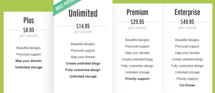 TypePad Pricing Plan