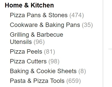 Pizza Supplies on Amazon