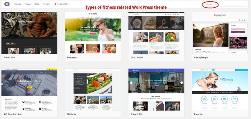 Fitness Themes in WordPress