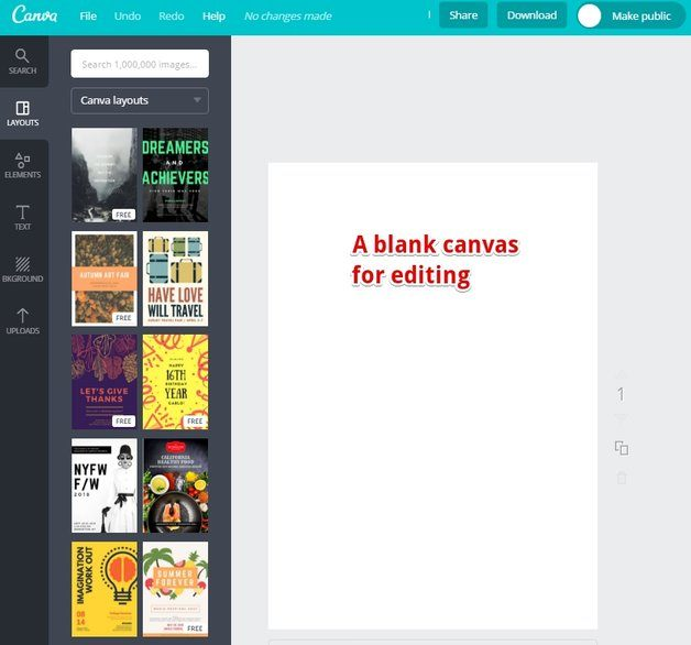 The Canva Editor