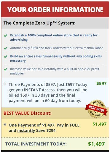 Zero Up Software Pricing