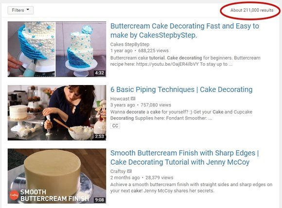 Cake Decoration Tutorial on YouTube
