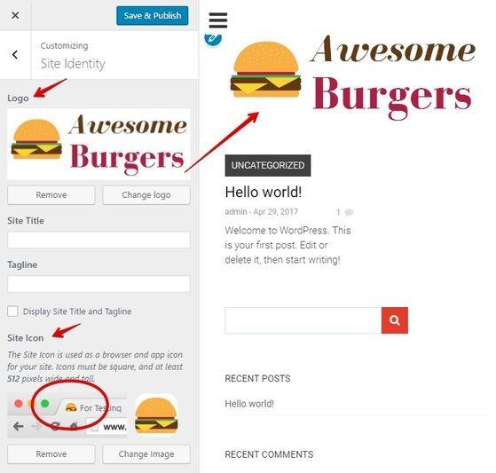 Customize Logo in WordPress