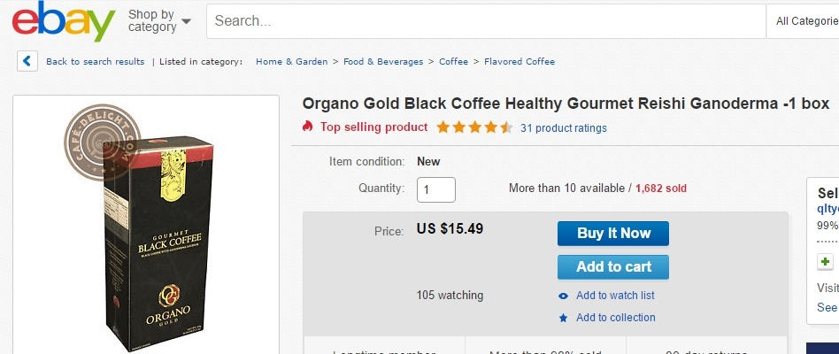 Organo Gold on eBay