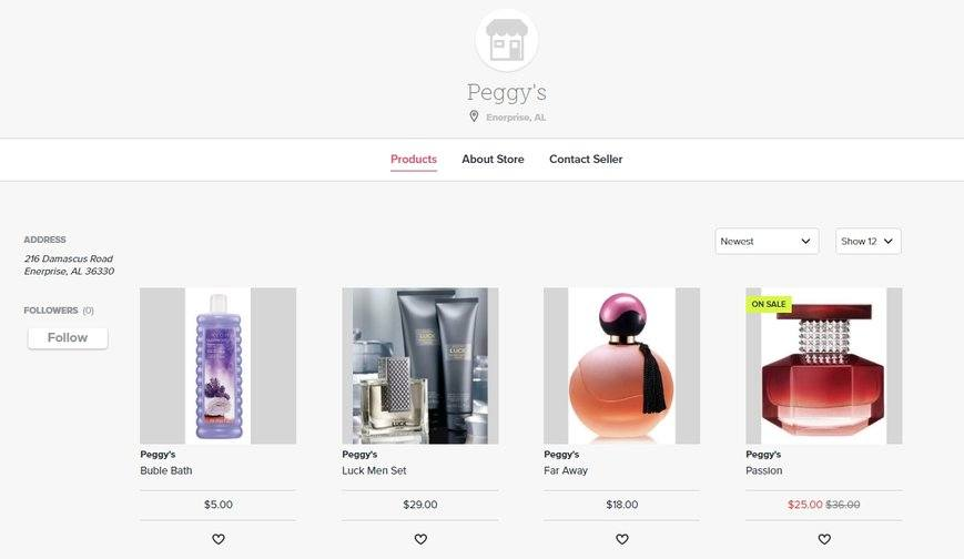 Peggys Online Store