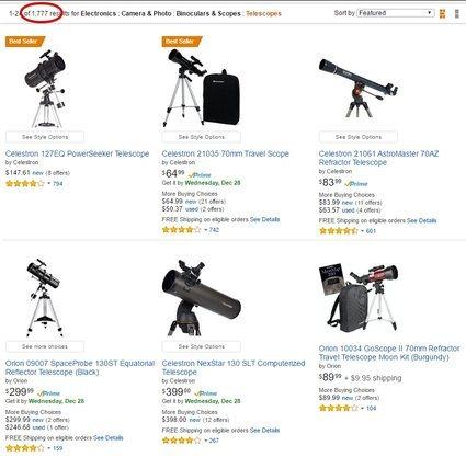 Telescope Listings on Amazon