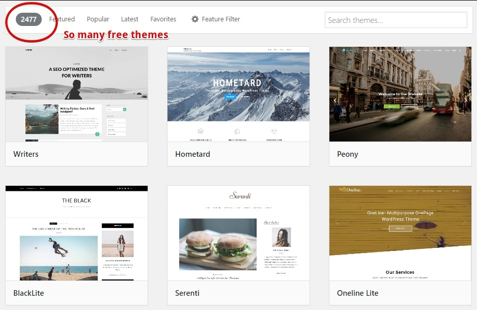 Examples of WP Themes