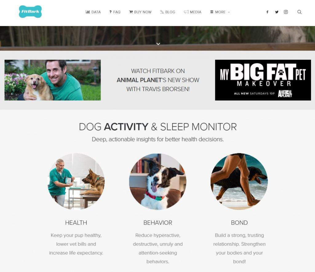 FitBark Homepage
