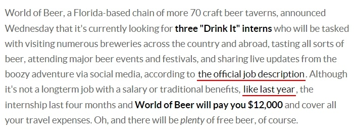 Get Paid for Tasting Beer