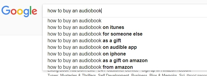 Google Search for Audiobooks