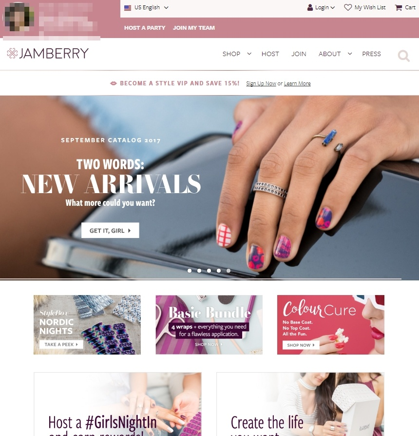 Jamberry Personal Website
