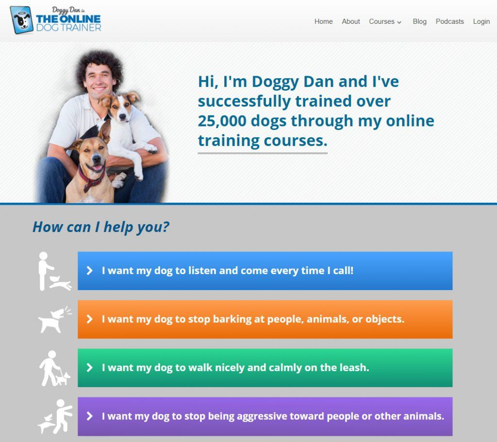 The Online Dog Trainer Homepage