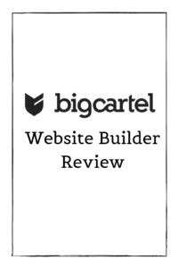 BigCartel Website Builder Review