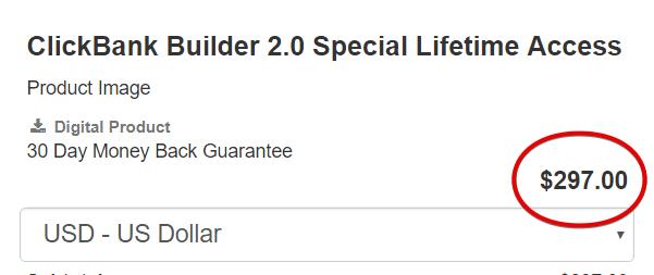 Clickbank Builder Price