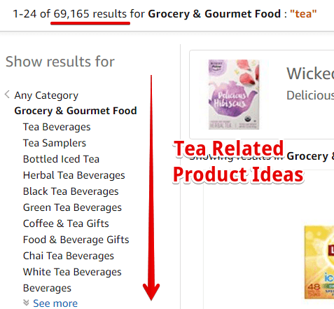 Tea Products on Amazon