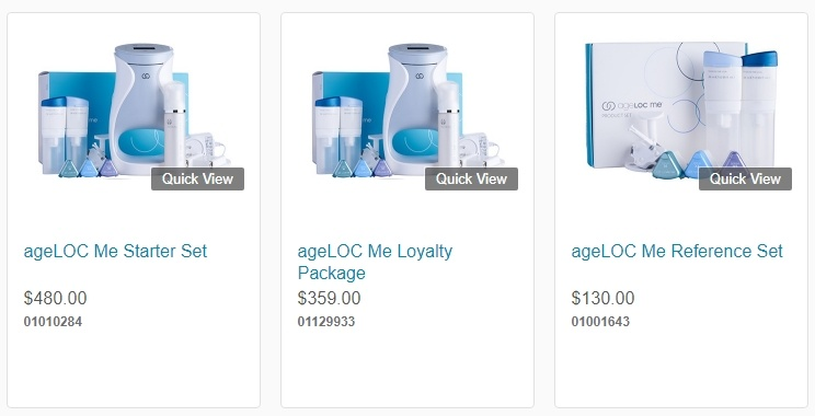 ageLOC Me Product Listings