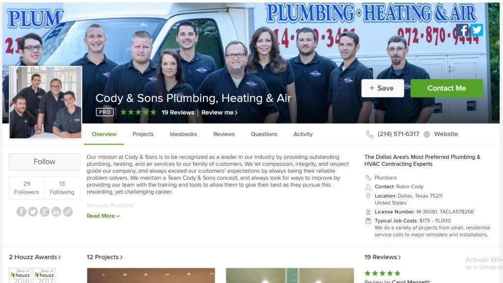 A Professional Service on Houzz