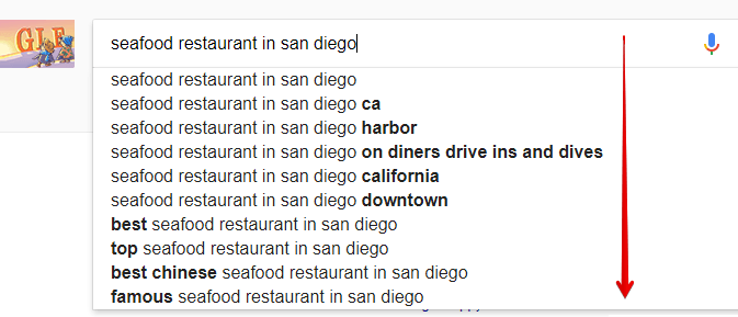 Google Suggest on Local Search Keywords