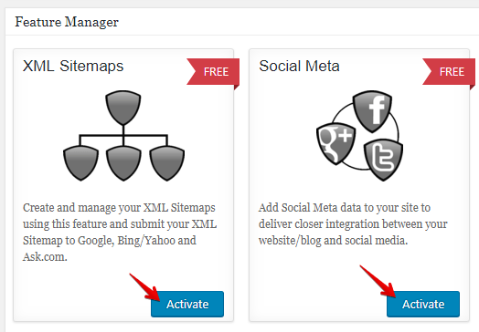 Activate XML SiteMaps and Social Meta on AIOSEO