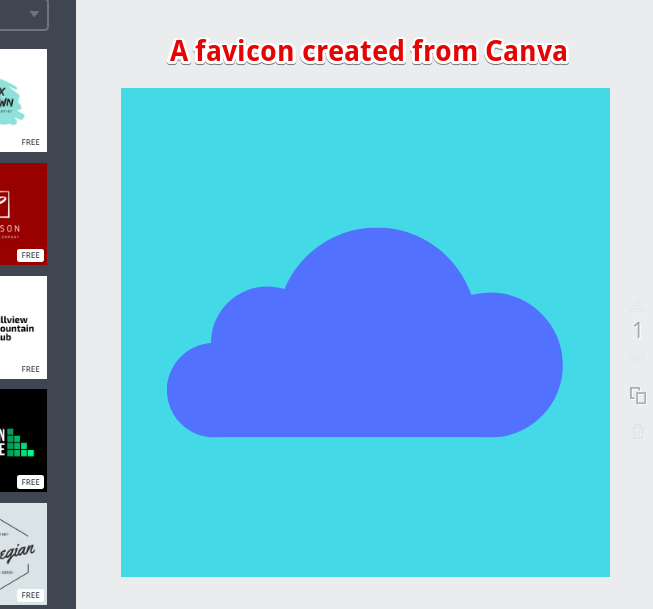 Favicon Created on Canva