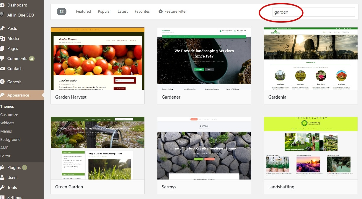 Free WordPress Themes for Gardeners