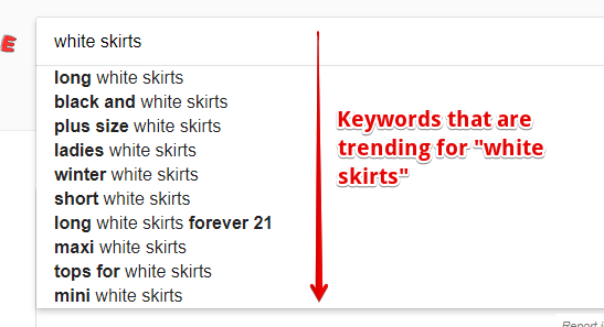 Keywords from Google Suggest