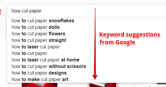 Keyword Suggestions from Google