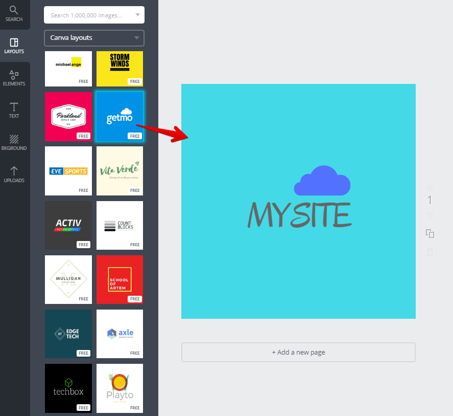 Logo Template on Canva