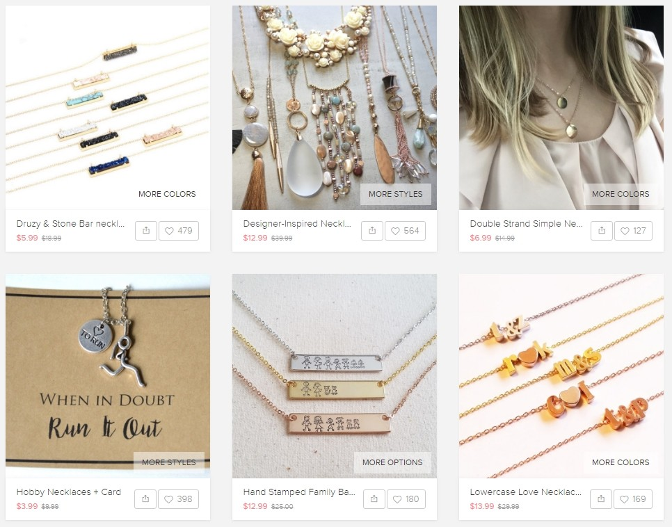 Neckplace Products on Jane Marketplace