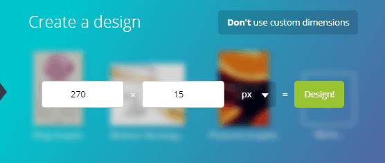 Use Custom Dimensions on Canva