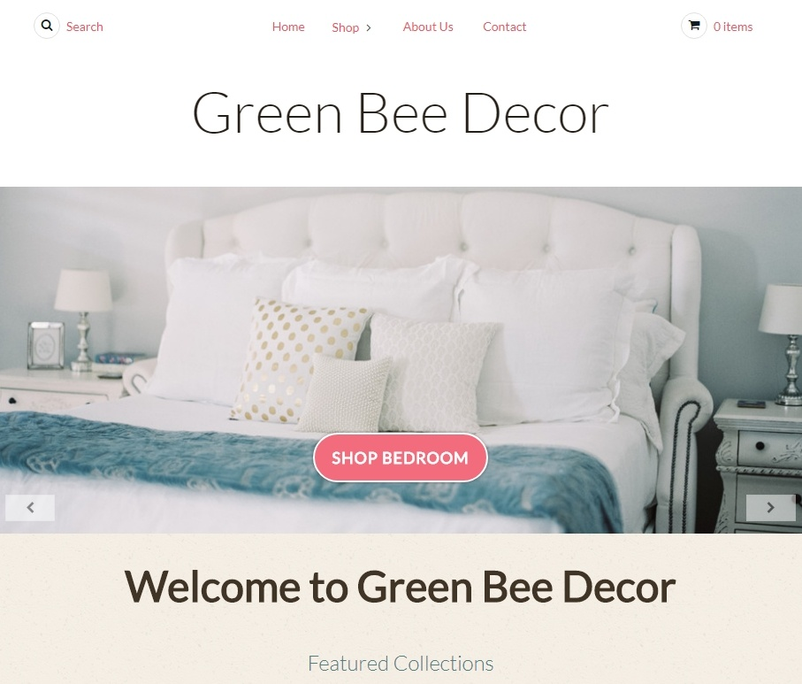 Example of Bonanza Webstore