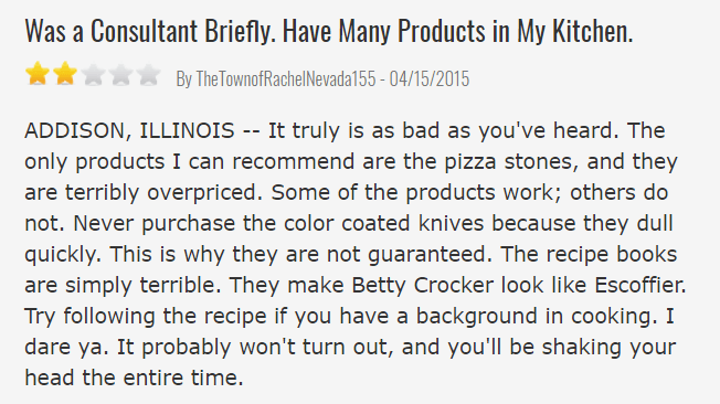 Pampered Chef Consultant Review