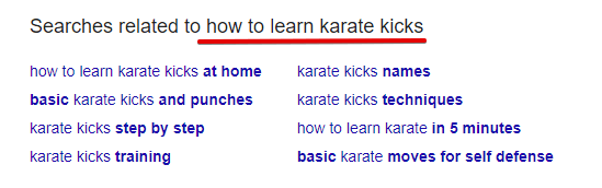 Search Related Terms