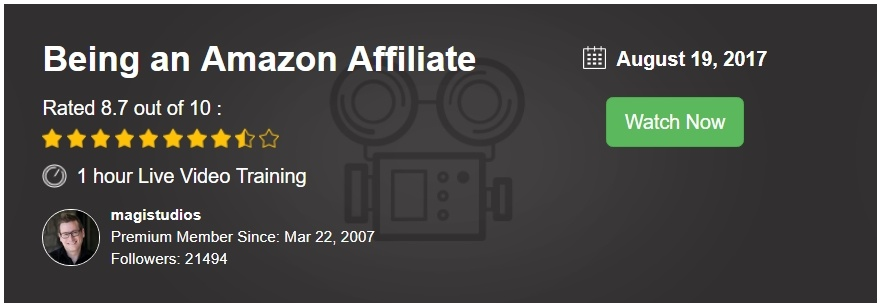 WA Webinar Being an Amazon Associate