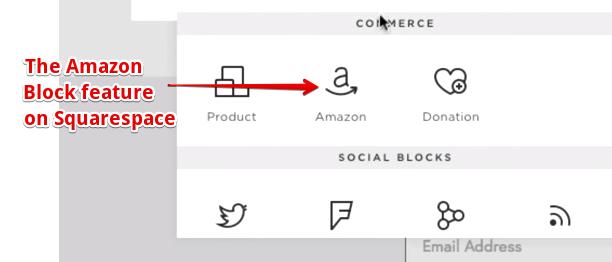 Amazon Block on Squarespace