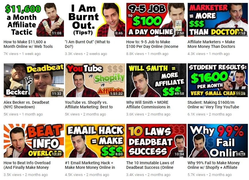 Deadbeat Super Affiliate YouTube Channel