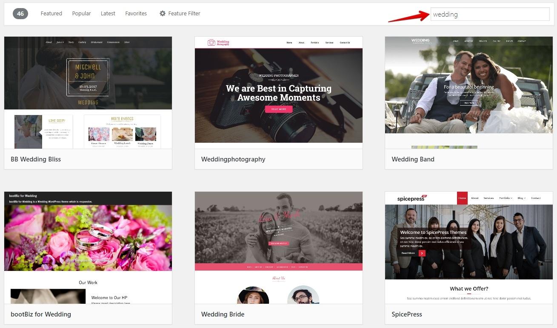 Free Wedding Themes on WordPress
