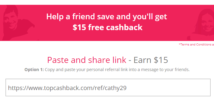 Referral Code from TopCashback