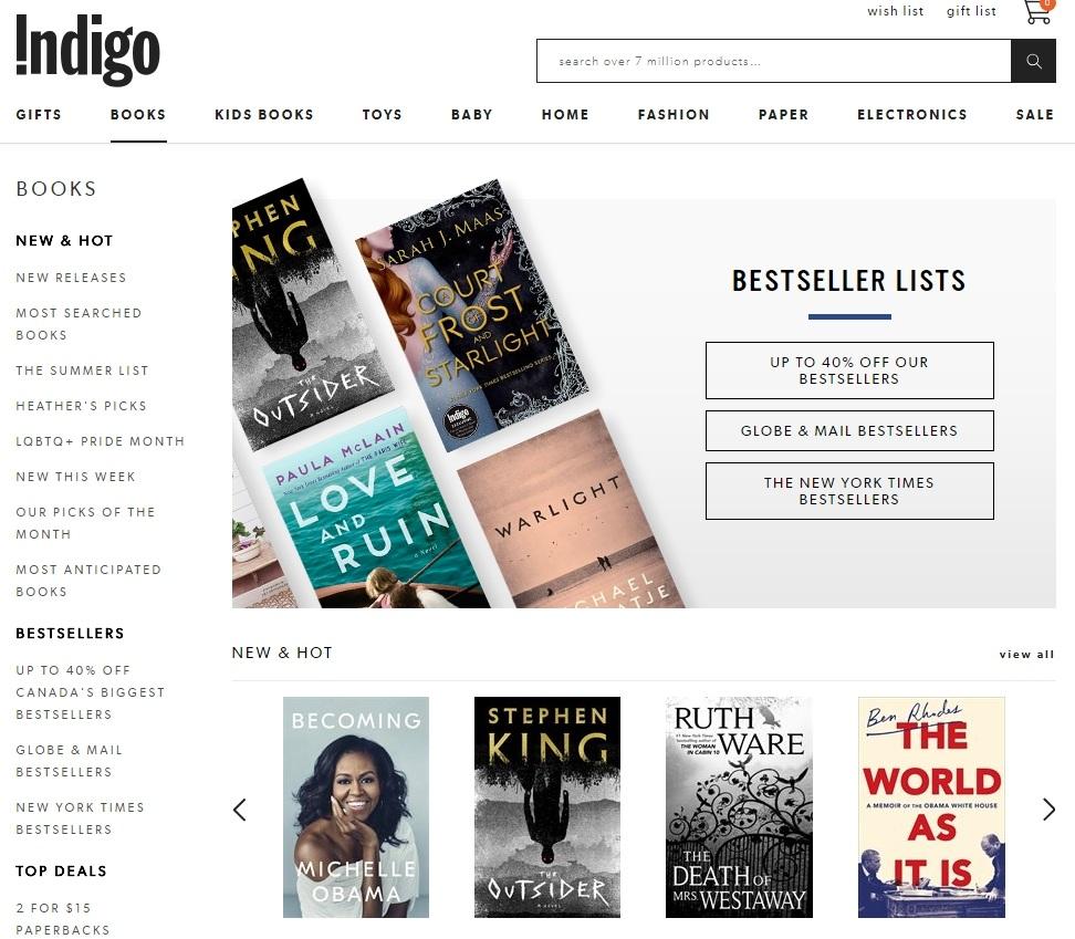 Indigo Homepage