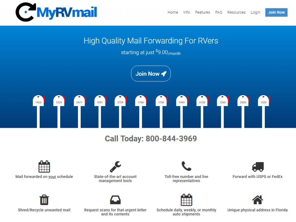 MyRVmail Homepage